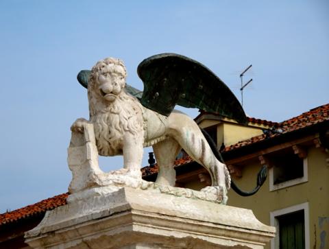 Venetiens Löwe in Marostica
