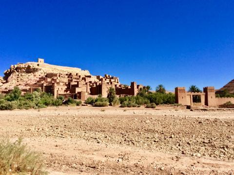 Der oft als Filmkulisse genutzte Kasbahkomplex von Ait Benhaddou
