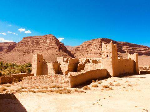Kasbah-Ruine im ziz-Tal
