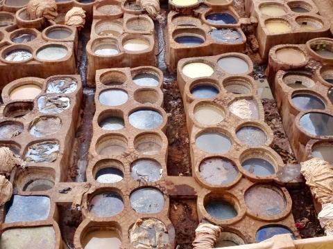 Das Färberviertel in der Médina von Fez