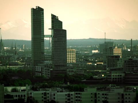 Unübliche Münchner StadtSilhouette