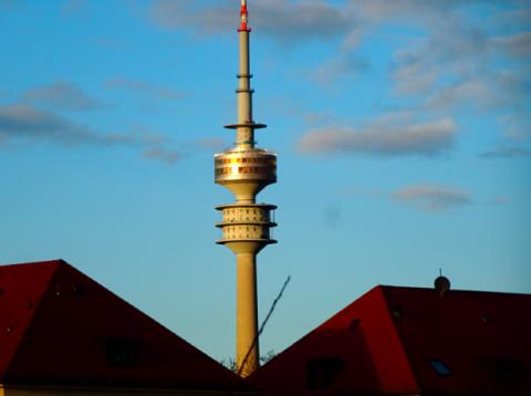 Blick auf den Olympiaturm