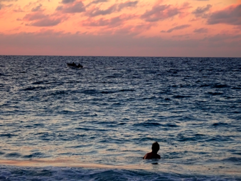 Sonnenuntergang am Anse Laszio auf Praslin