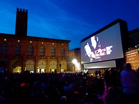 Freilichtkino am Piazza Maggiore