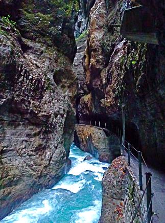 In der Partnachklamm bei Garmisch-Partenkirchen