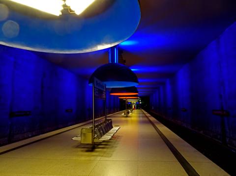 Der U-Bahnhof Westfriedhof in München