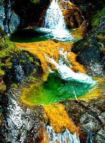Die Legerwaldgraben-Wasserfälle bei Bayrischzell