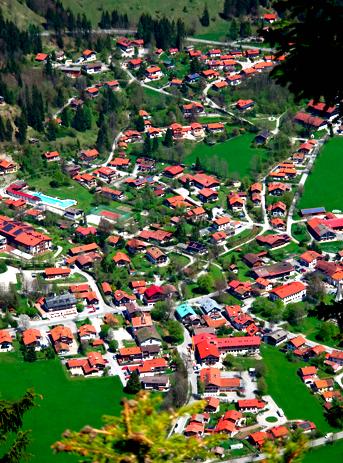 Blick vom Seeberggipfel auf Bayrischzell