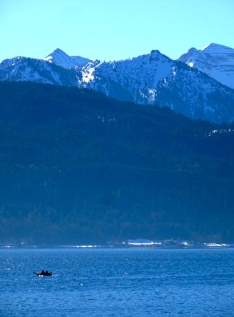 Anglerboot auf dem Walchensee