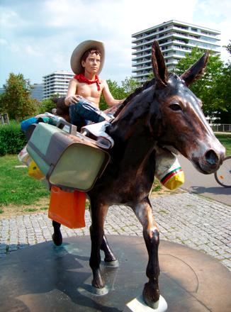 Reiterstandbild Go ! im Petuelpark München