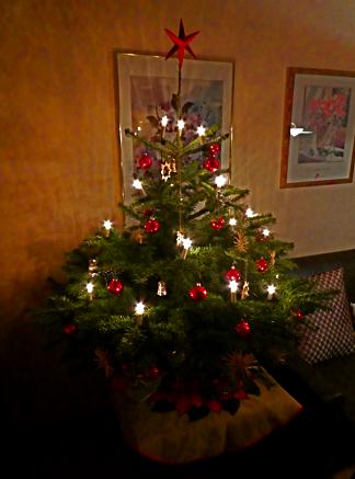 Christbaum der Familie Klötgen