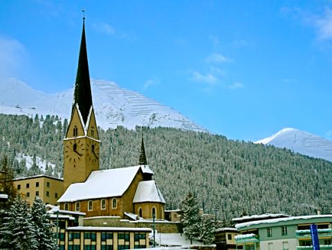 Ausblick auf Davos Platz
