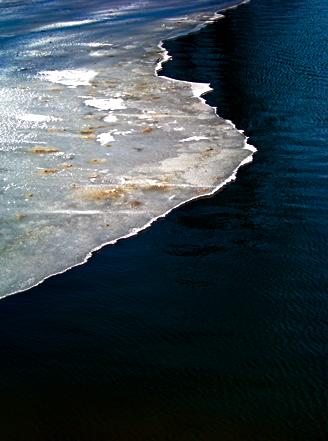 Eis auf dem Nymphenburger Kanal