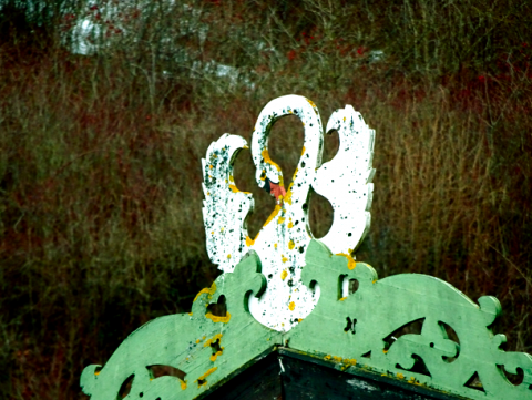 Wappen am Dachfirst im Schwangau
