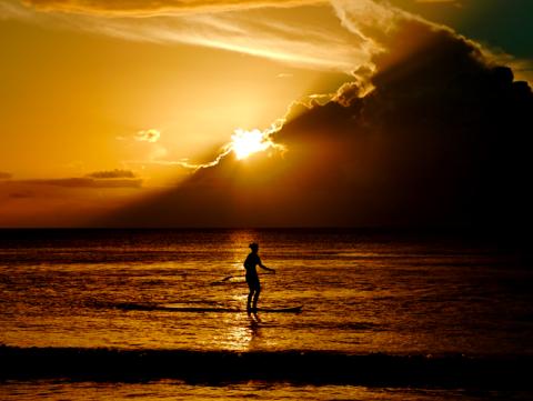 Sunset at Tamarin Beach