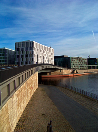 Spreebrücke am Berliner Hauptbahnhof