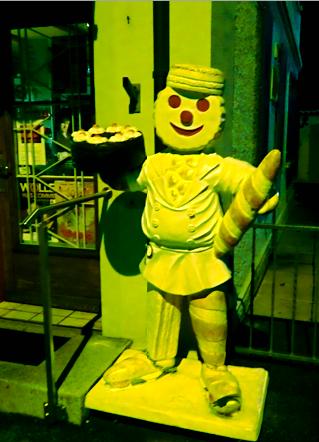 Figur vorm Bäcker Wacker Olten