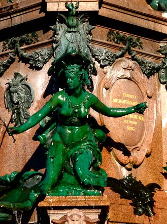 Der Mendebrunnen am Augustusplatz in Leipzig