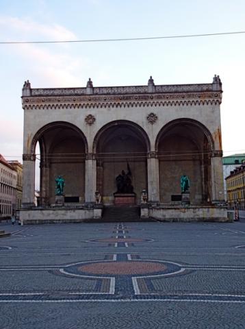 Der Odeonsplatz zu Coronoa-Zeiten