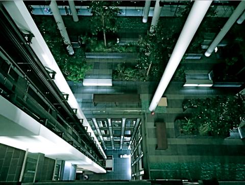 Im Skygarden München bei  der Langen Nacht der Architektur