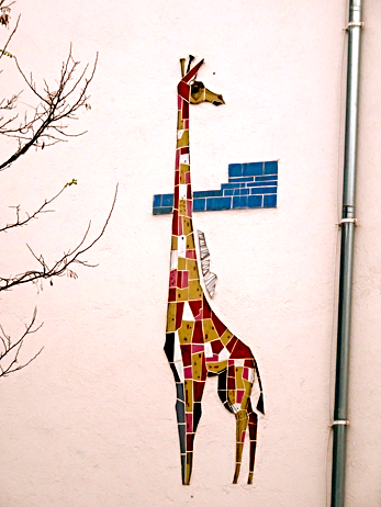 Wandbemalung in der Nähe vom Klinikum Schwabing