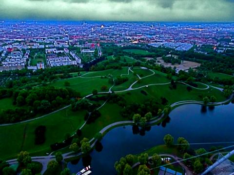 München und Olympiapark vom Olympiaturm