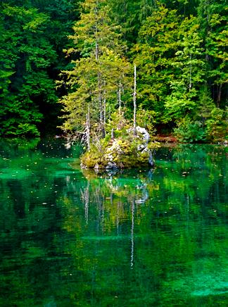 Der Badersee in Grainau