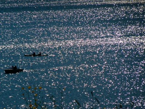 Blick auf den Tegernsee auf dem Höhenweg von Gmund