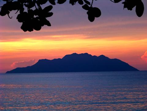 Silhouette Seychellen