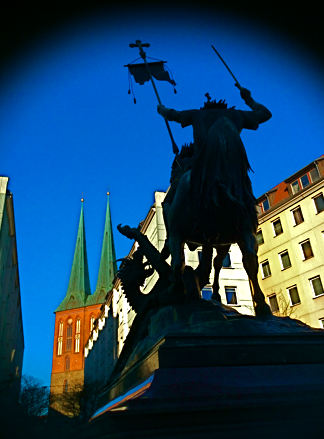 Der Heilige Georg. Nikolaiviertel Berlin