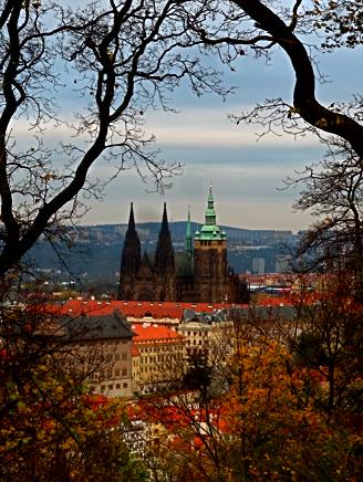 Blick auf die Pražský hrad