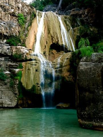 Wasserfall am Ufer des Tsiribihina River
