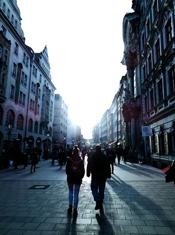 Auf der Münchner Einkaufsmeile Sendlinger Straße