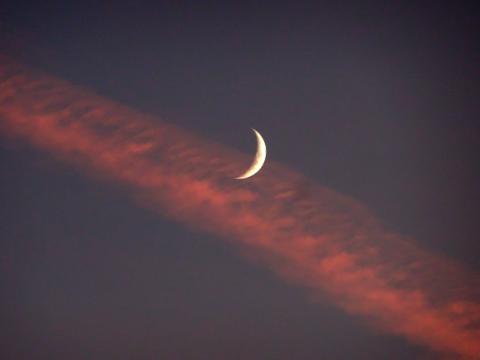 Abendhimmel mit Kondensstreifen