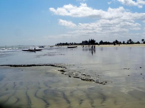Am Strand von Morandava.