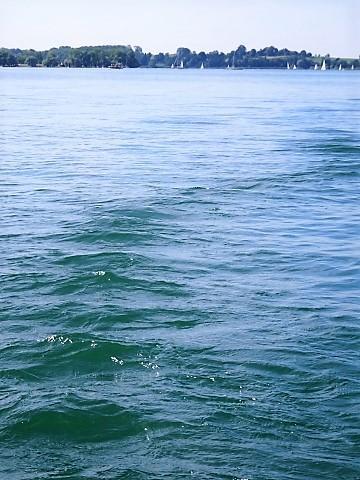 Im Tretboot bei Übersee am Chiemsee