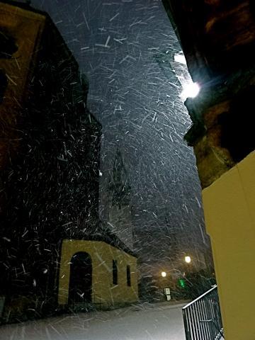 Schneefall im Januar