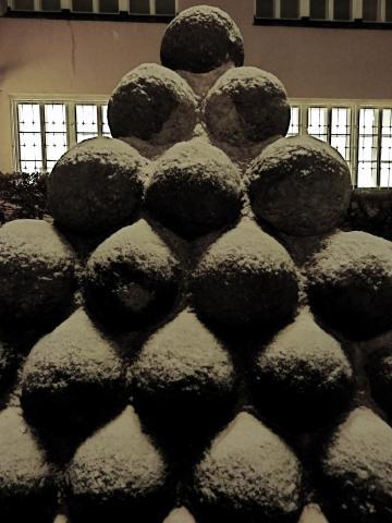 Schneebälle am Münchner Stadtmuseum