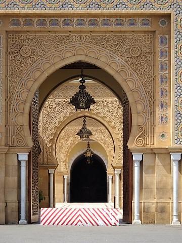 Eingan zum Königspalast von Rabat