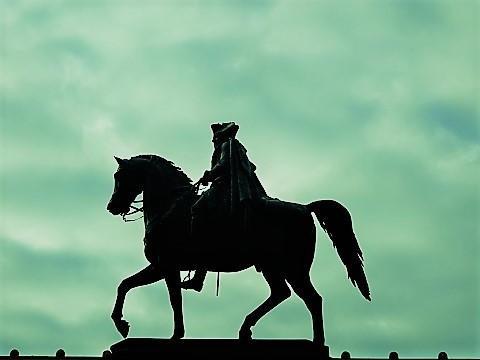 Reiterstandbild Friedrichs des Großen am Forum Fridericianum