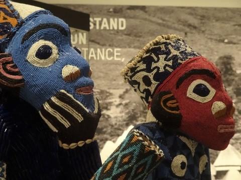 Kameruner Königsthron in der Afrika-Abteilung im Ethnologischen Museum Berlin