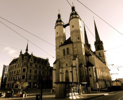 Halle an der Saale Marktplatz mit Marktkirche