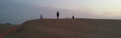 Lesung in der arabischen Wüste 2014.